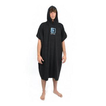 Poncho Surf Logic - czarne - bawełna