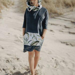 Ponczo plażowe moki Lei