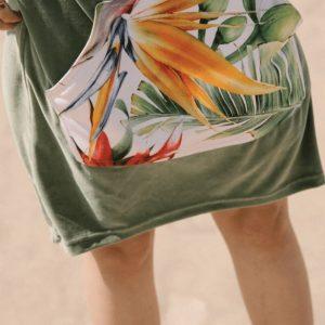 Ponczo plażowe moki birds of paradise