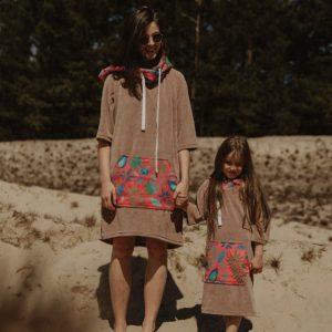 Ponczo plażowe moki folk sand