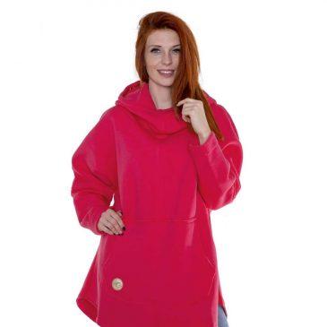 Bluza Evokaii - Kangoo Pink - różowa - modelka