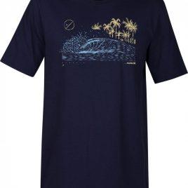 Koszulka Hurley 2018 Core Rolling Wave Navy