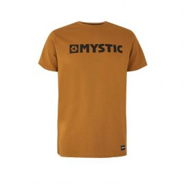 Koszulka Mystic t-shirt - Brand Tee - Golden Brown - brązowy