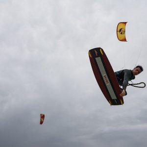 Deska kite Shinn Bronq Backspacer - akcja