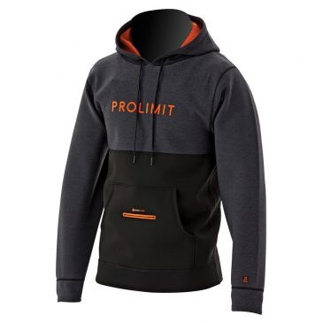 Bluza neoprenowa Prolimit Loosefit Hoodie - Black-orange