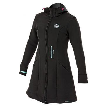 Damski płaszcz neoprenowy Prolimit Pure Girl Racek Jacket - Black-Aqua