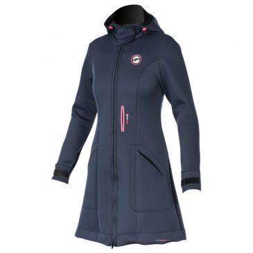 Damski płaszcz neoprenowy Prolimit Pure Girl Racek Jacket - slate-black-pink