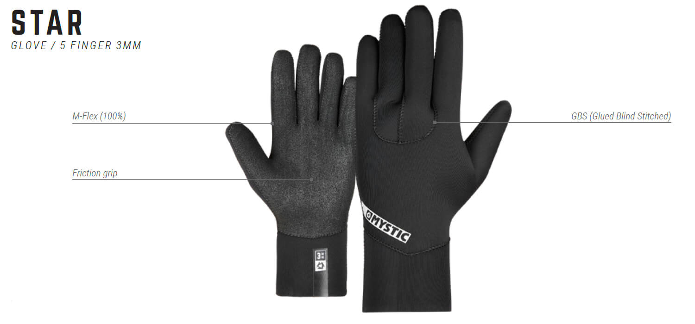 Rękawiczki neoprenowe Mystic Star - 5-finger - legenda
