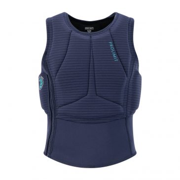 402.63092.020_prolimit_womens_flare_vest_half_padded_sidezip_navy_turquoise_front